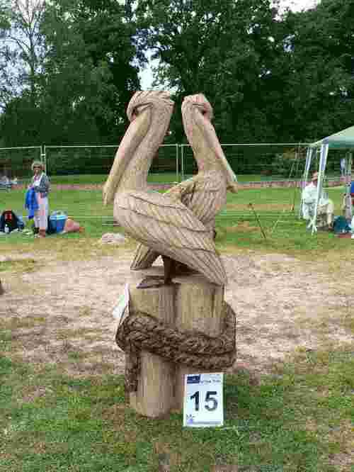 Sculptree Pelicans