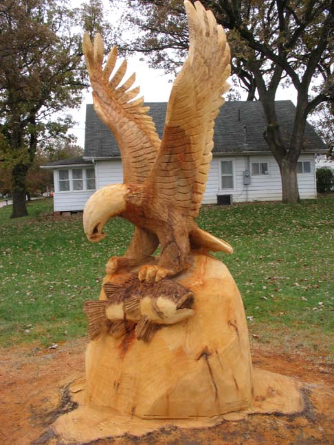 Indianola Eagle with Fish
