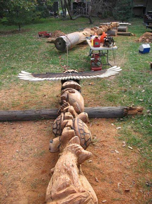 Nebraska totem, work in progress